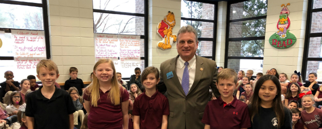 U.S. Representative Buddy Carter Speaks with Marlow Elementary Third Graders