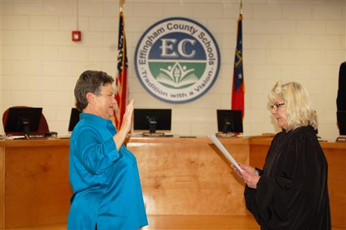 Beth Helmly (District 4) were sworn in to serve as board members for the Effingham County School District.