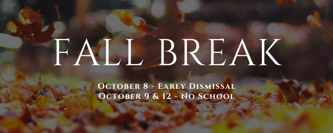 October 8 - School Early Dismissal Times for ECCA