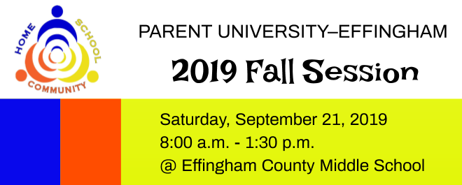 Parent University September 21, 2019