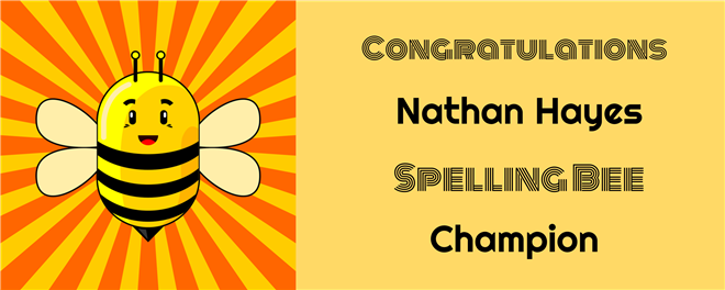 Nathan Hayes Wins ECSD Spelling Bee