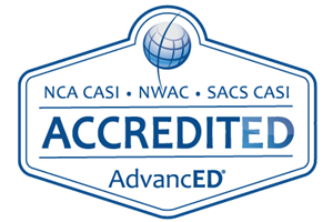 NCA CASI, NWAC and SACS CASI Accredited Seal