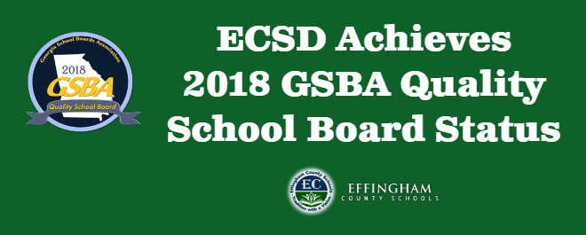 Effingham County School District Achieves 2018 GSBA Quality School Board Status