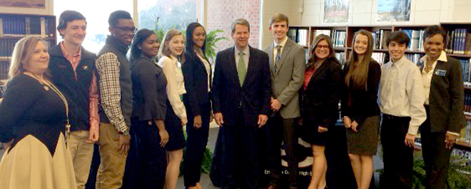Secretary of State Brian Kemp Visits ECHS