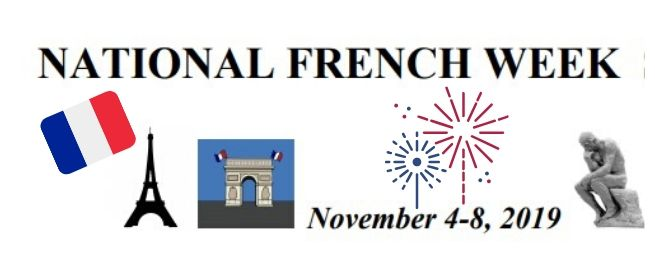 National French Week Schedule of Events
