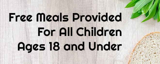 Free Meals for Children Starting Wednesday, March 18