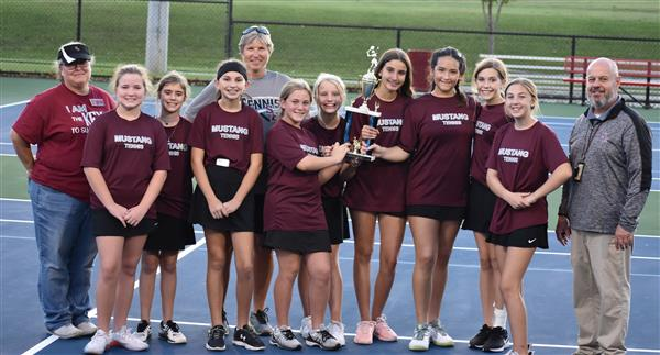 Congratulations Lady Mustang Tennis!  Region Champs!