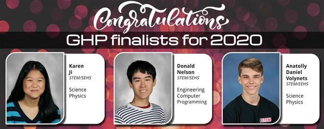 Congratulations to our GHP Finalists!