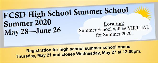 Summer School for ECSD High School Students