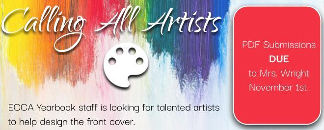 Call all artists: ECCA Yearbook staff is looking 4 talented artists to help design the front cover