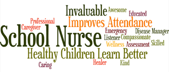 word cloud of school nurse