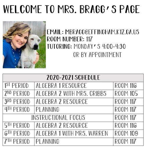 Welcome to Mrs. Bragg's Page