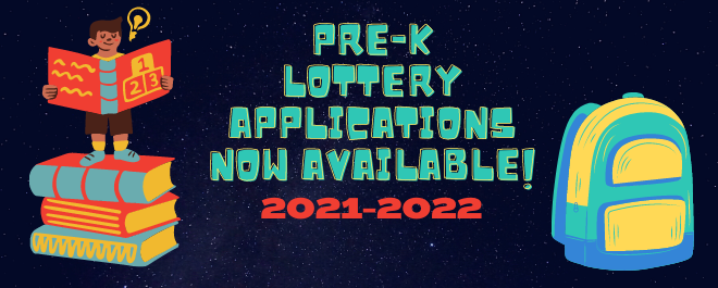 Pre-K Lottery Applications now Available for 2021-2022