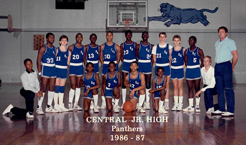 Panther Basketball Team - 1986-87