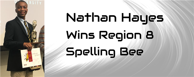 Nathan Hayes Wins Region Eight Spelling Bee