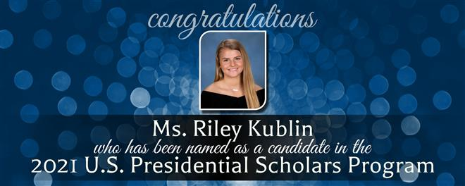 ECHS Senior Named Candidate in U.S. Presidential Scholars Program