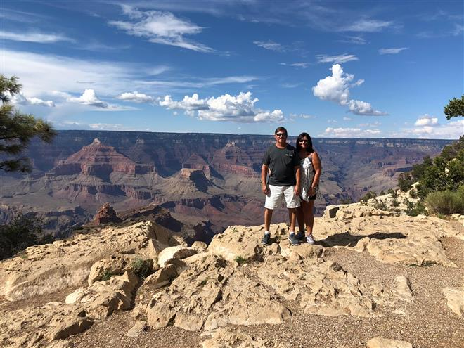 Grand Canyon with my husband