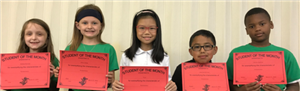 Student of the Month- Second Grade