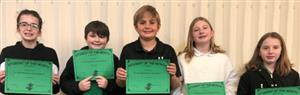 5th Grade Student of the Month Winners!