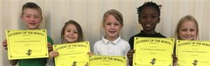 1st Grade Student of the Month Winners!