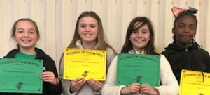 4th Grade Student of the Month Winners!