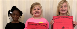 Pre K Student of the Month