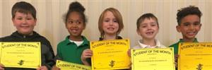 2nd Grade Student of the Month Winners!