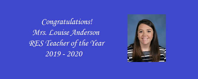 2019 - 2020 Teacher of the Year!