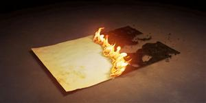 is burning paper a physical change